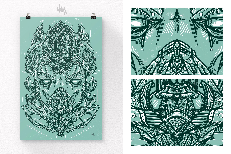 Ancient Seer - Illustration Print