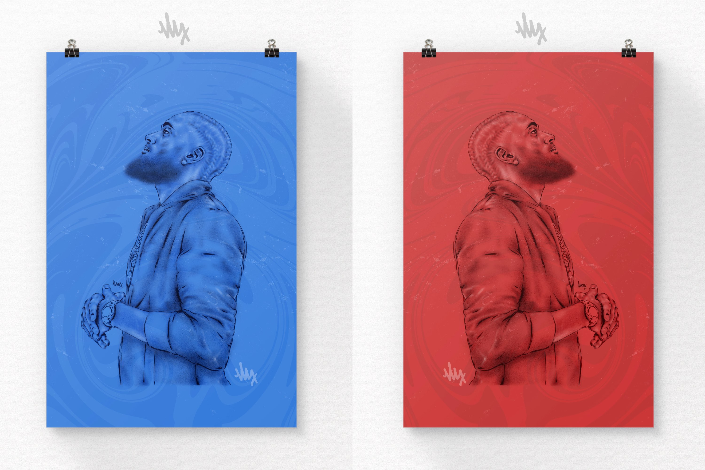 Nipsey Commemorative Portrait Illustrations