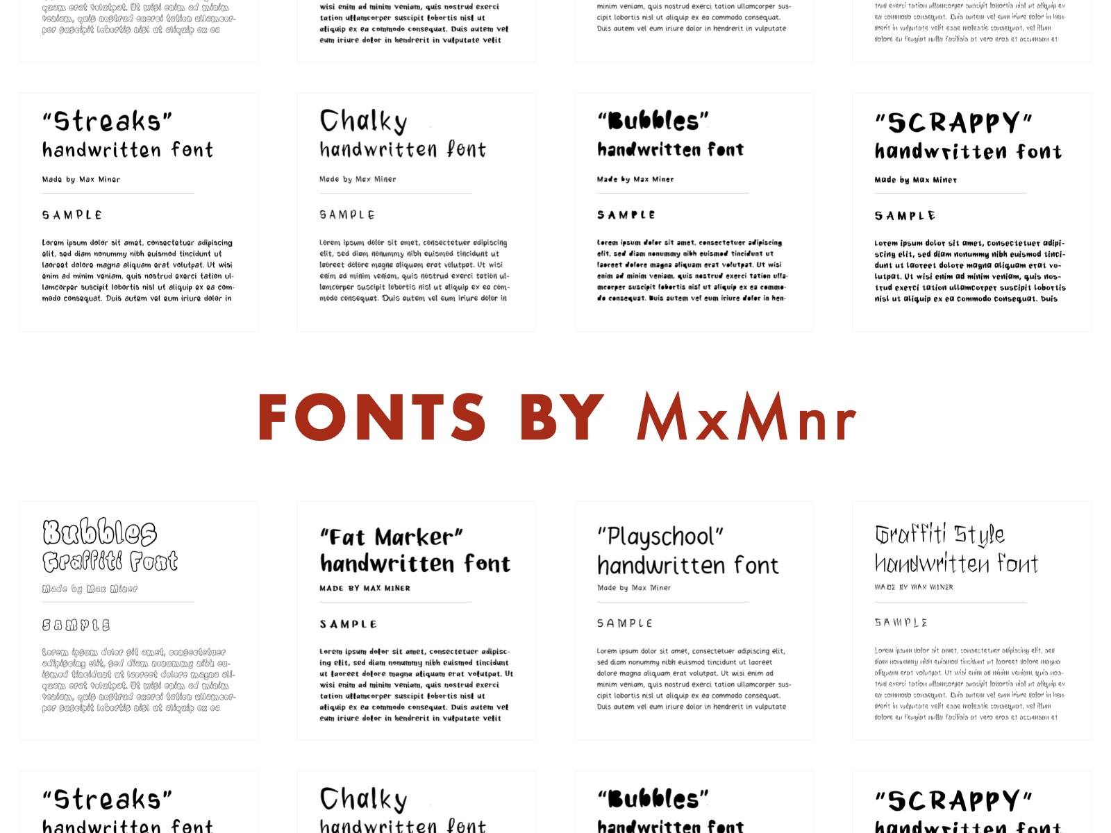 Fonts by MxMnr