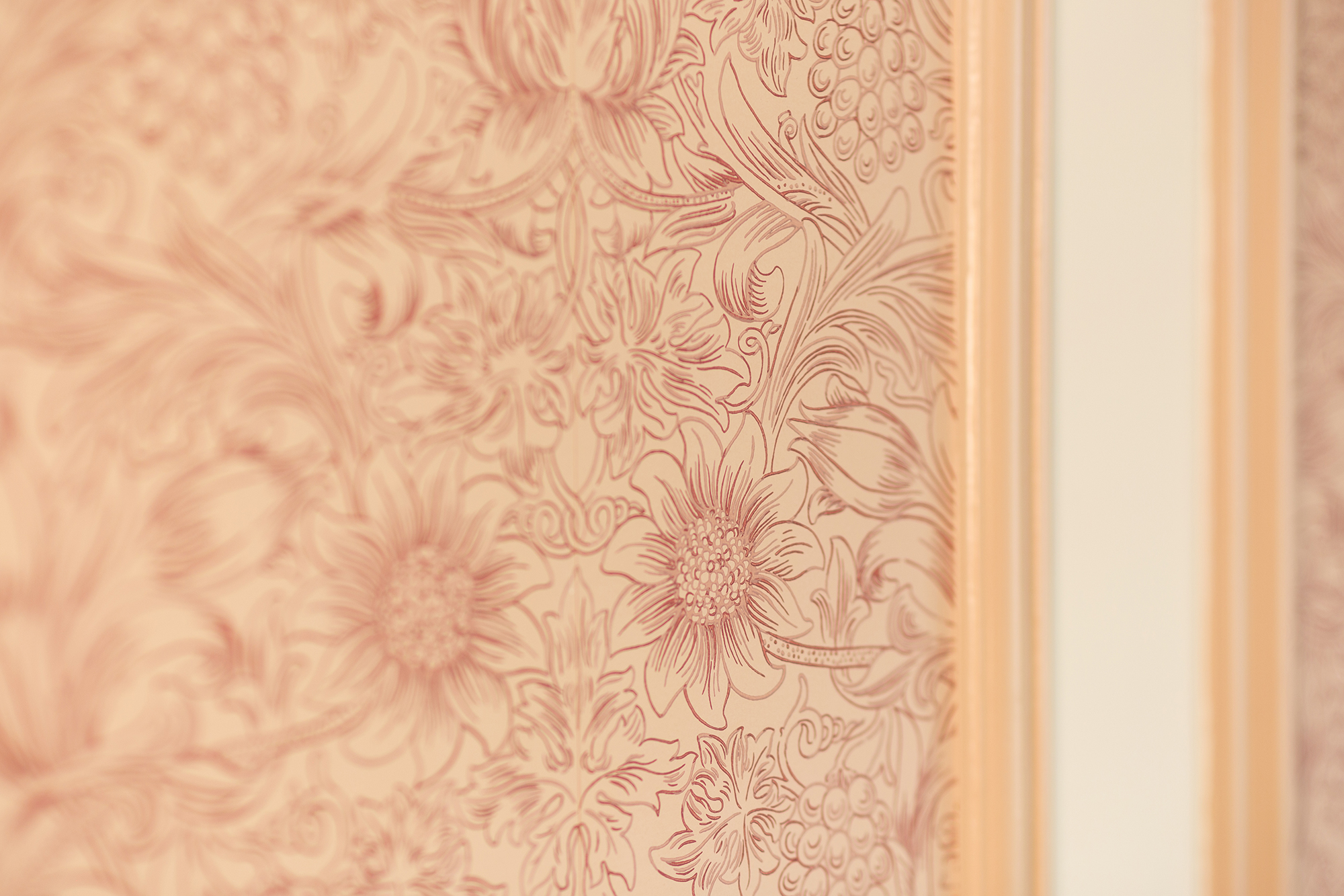 Close up of wall paper