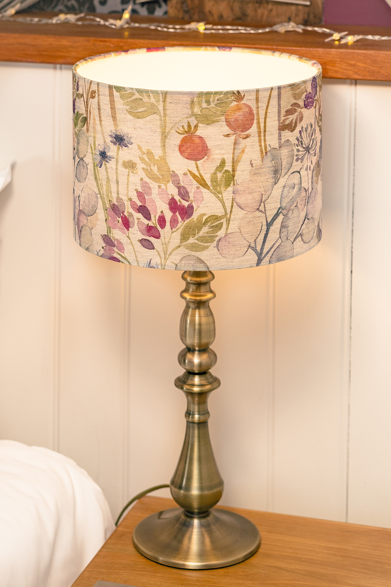 Close-up of table lamp