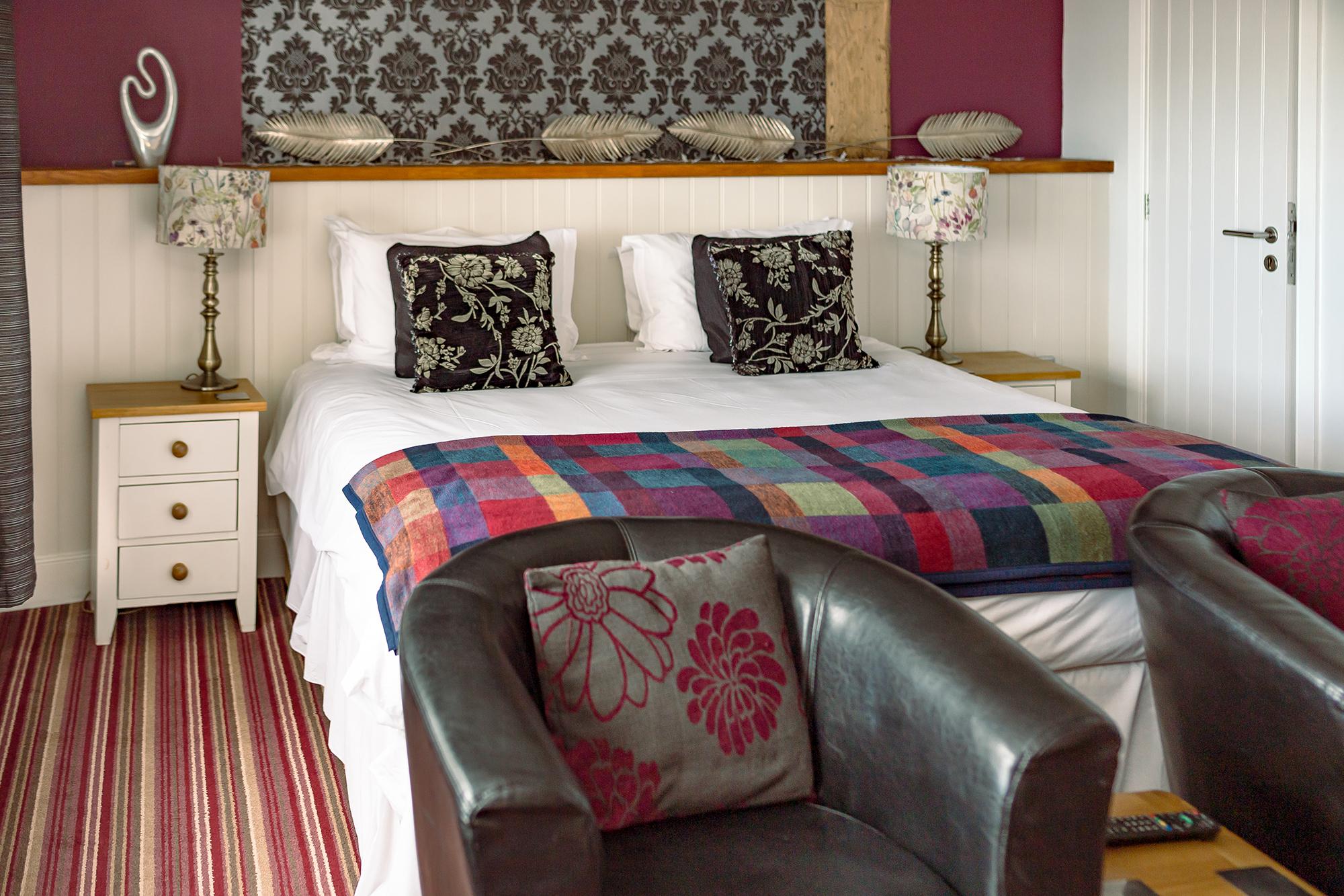 Closeup of bed