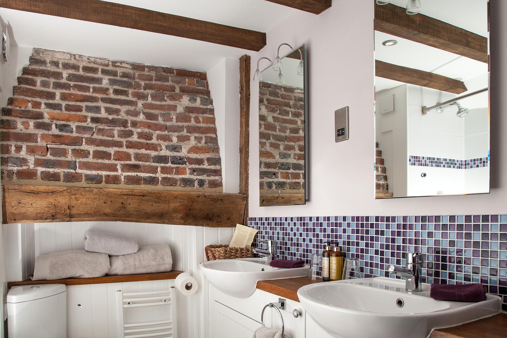Bathroom view for the Indigo room