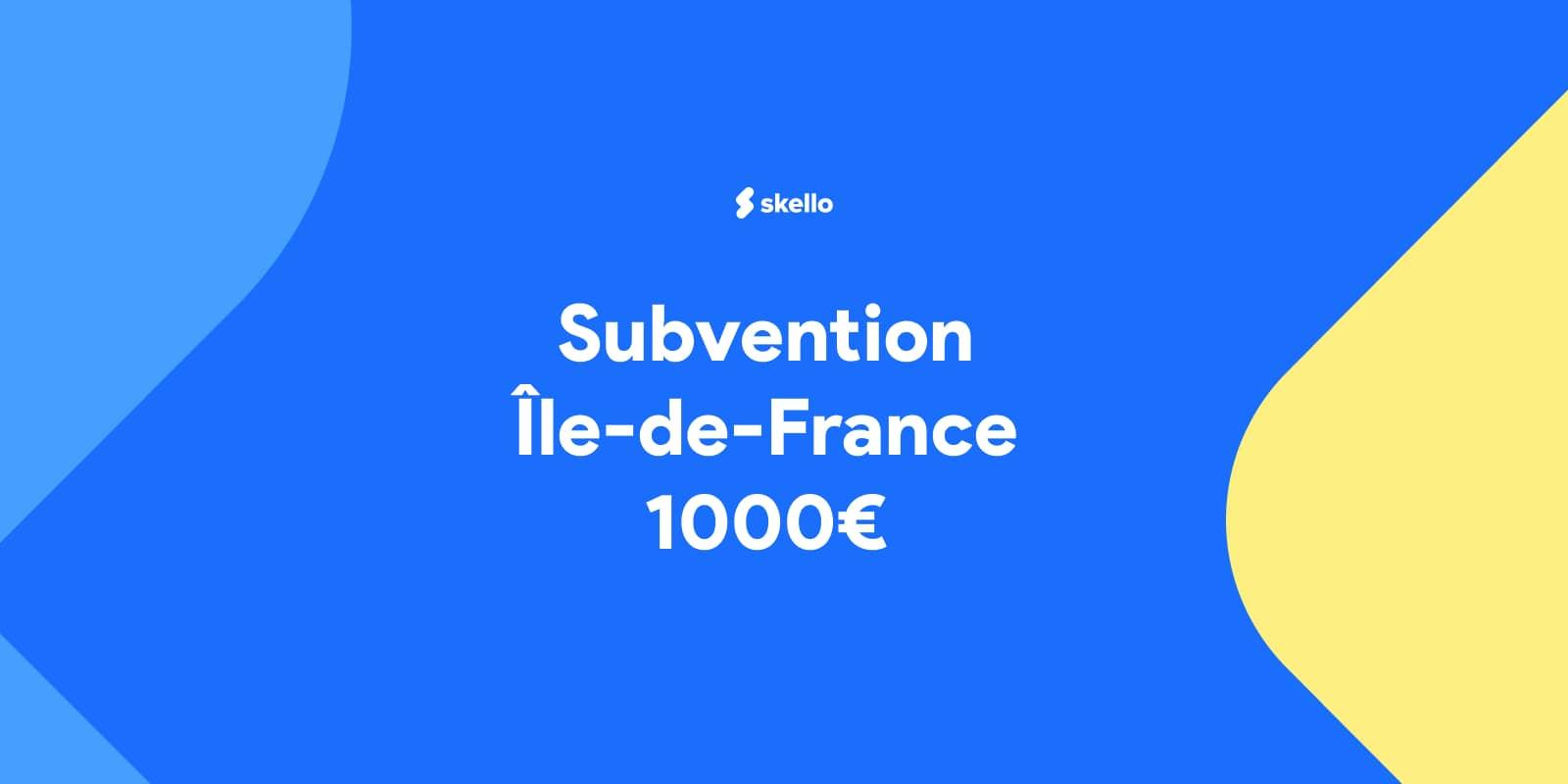 Commerces et secteur HCR : subvention de 1000 euros en Île-de-France.