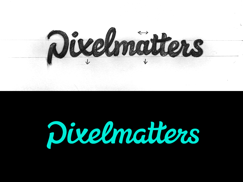 Pixelmatters old logo early draft