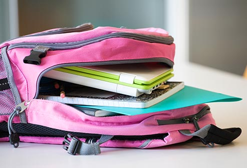 disorganized backpack
