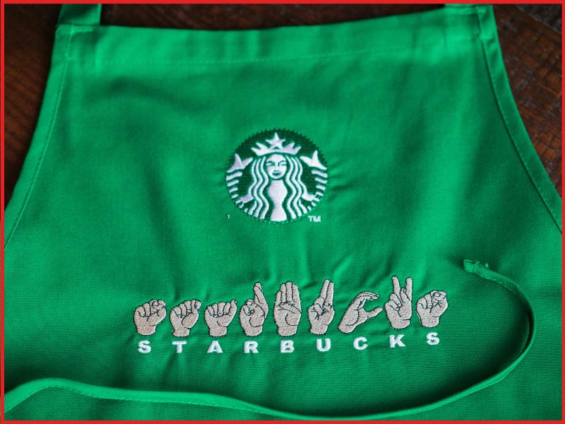 Starbucks established its first sign language store