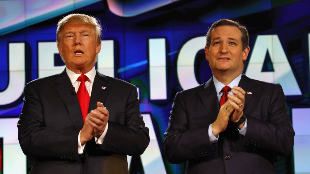 Ted Cruz and Donald Trump