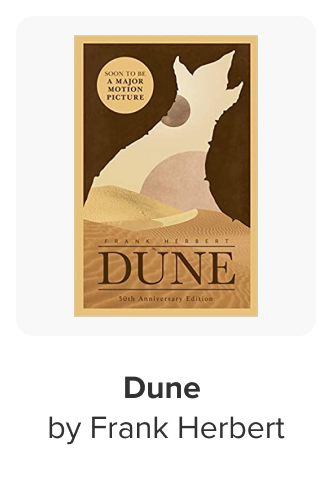 The book Dune by Frank Herbert being displayed as an article in a digital store