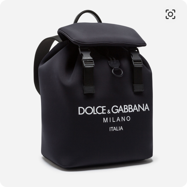 A picture of the Palermo Technico Black Technico Backpack from Dolce&Gabbana
