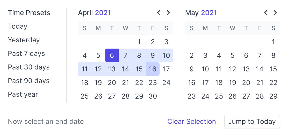 An image depicting a date picker UI component
