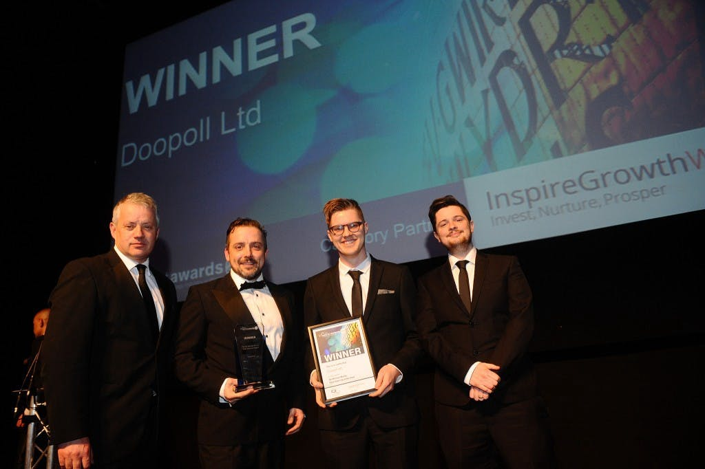 doopoll wins 'Sir Michael Moritz Tech Startup of the Year' Award