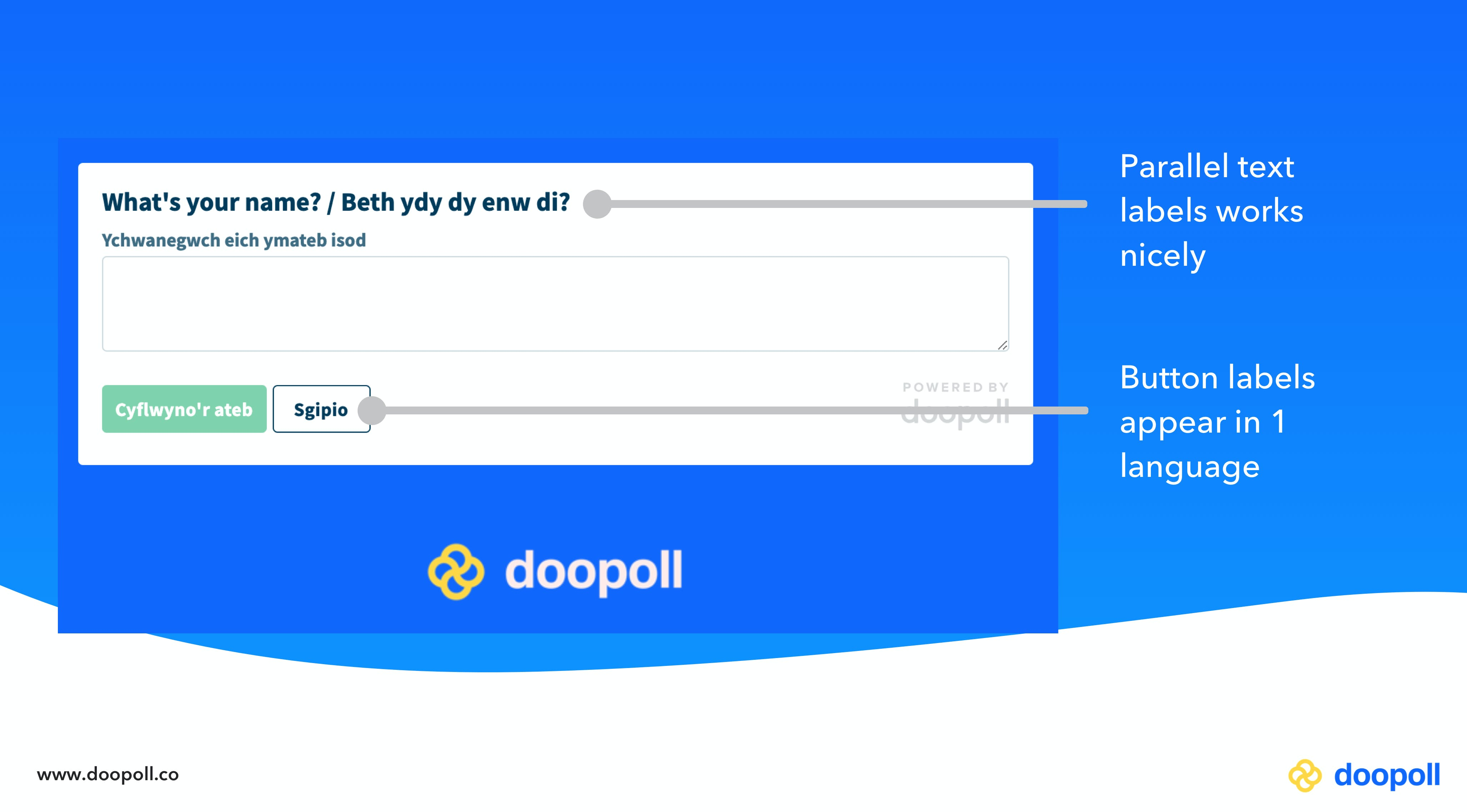 An example of a bilingual survey on doopoll