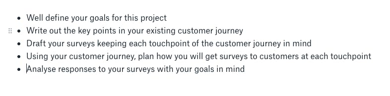Main points of your presentation