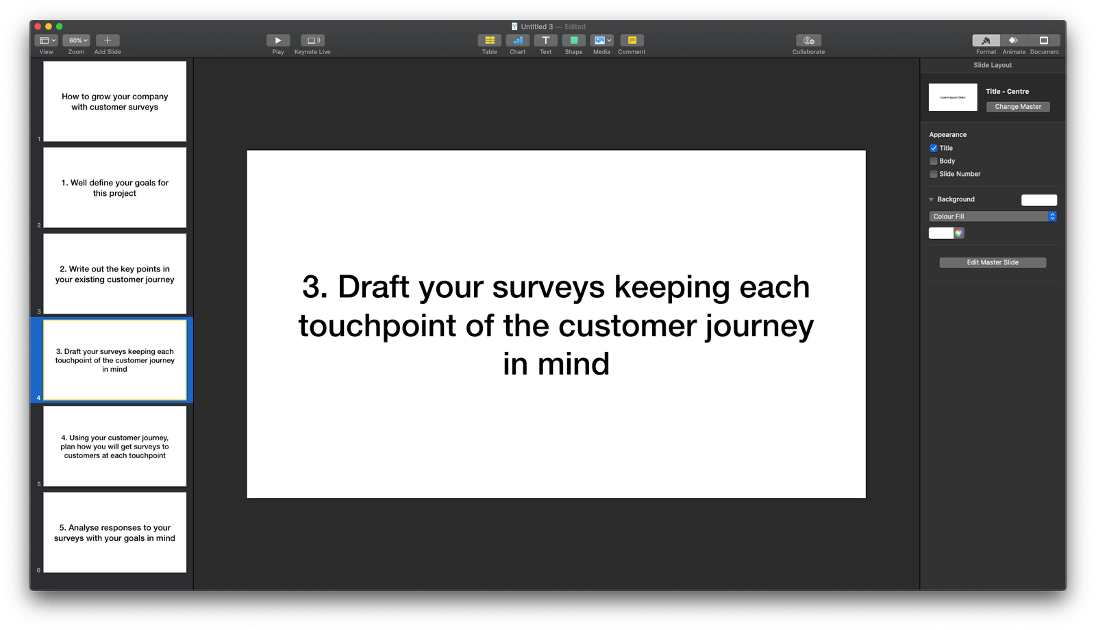 Basic structure of my slides