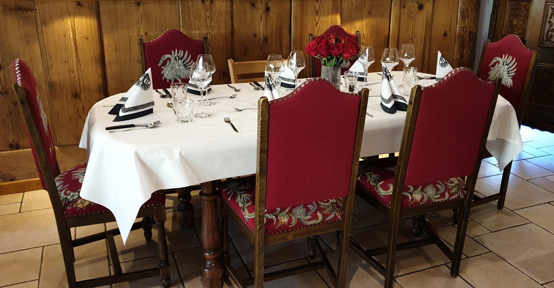 Table restaurant de la Loue