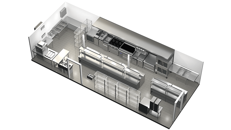 shipping container kitchen floor plan