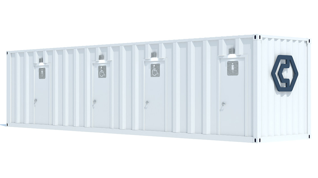 40ft shipping container restroom