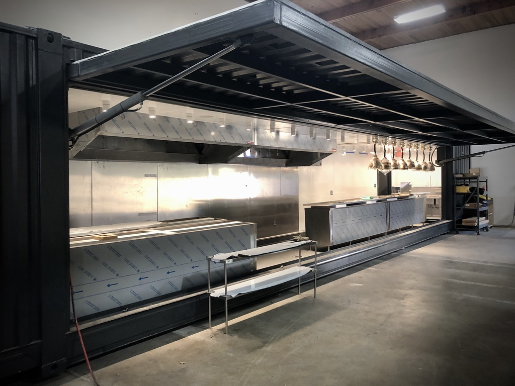 53FT shipping container kitchen