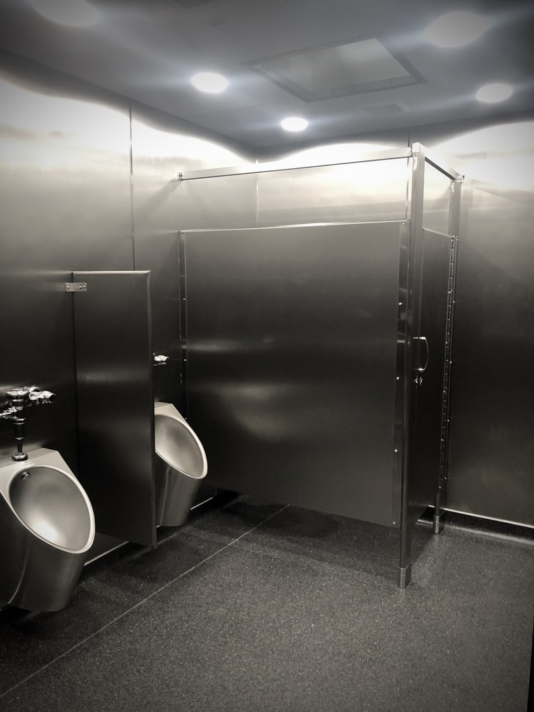 shipping container restroom  stainless steel