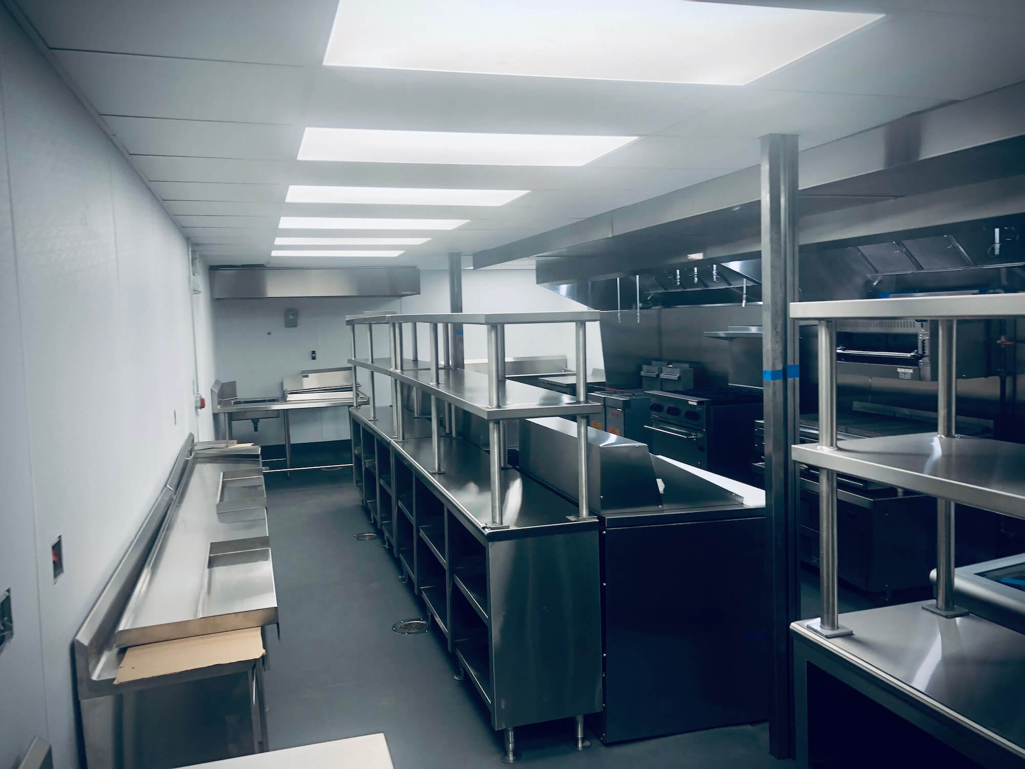 shipping container kitchen interior
