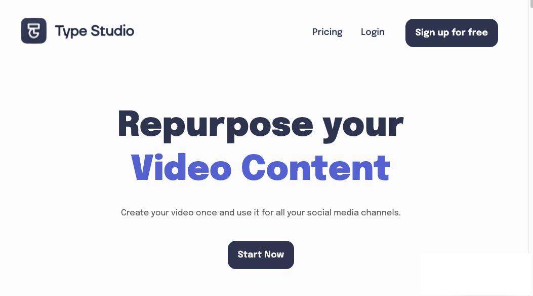 Type Studio Home Page
