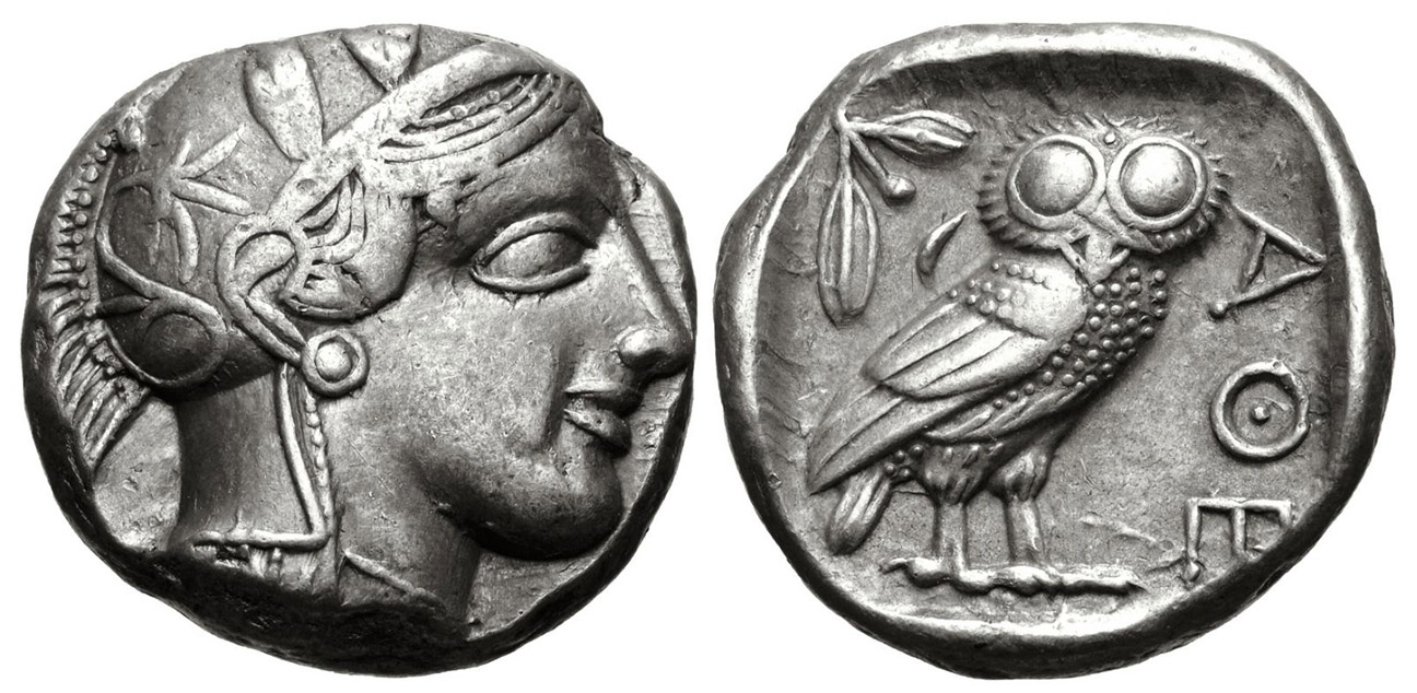 athens coin athena