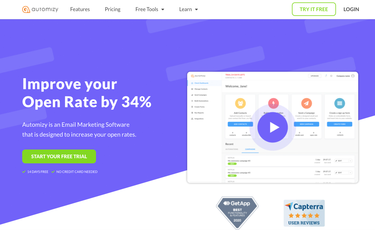 Automizy Home Page