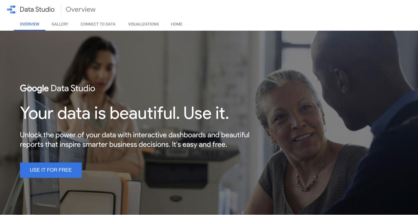 Data Studio Home Screen