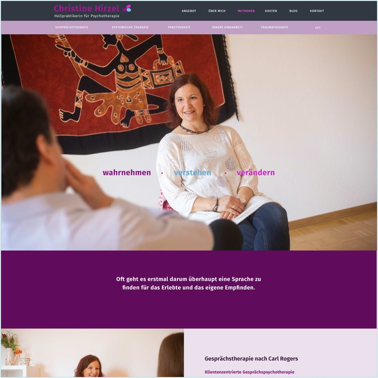Webdesign für Psychotherapeuten