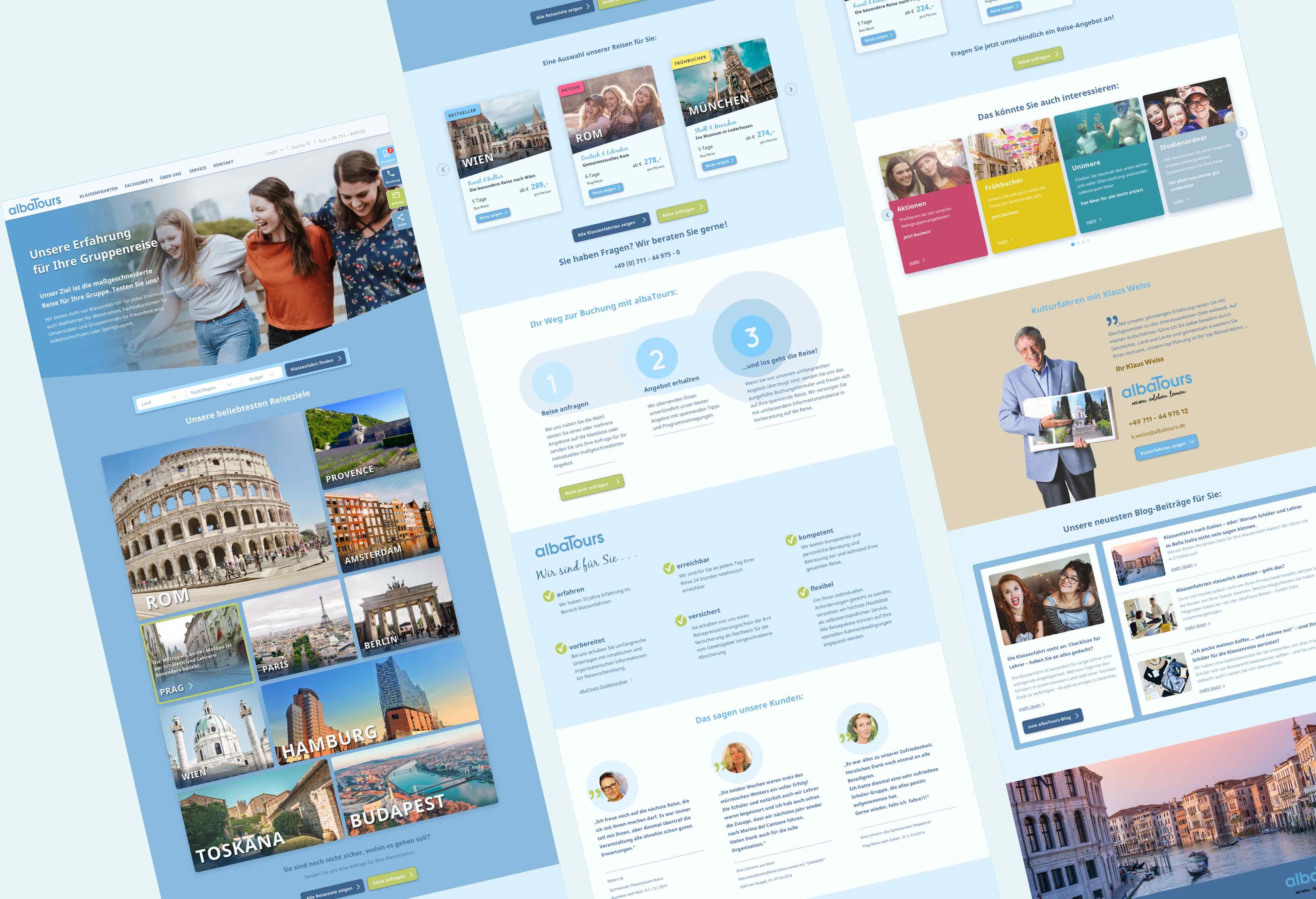 mockup responsive Webdesign für albatours Reisen GmbH