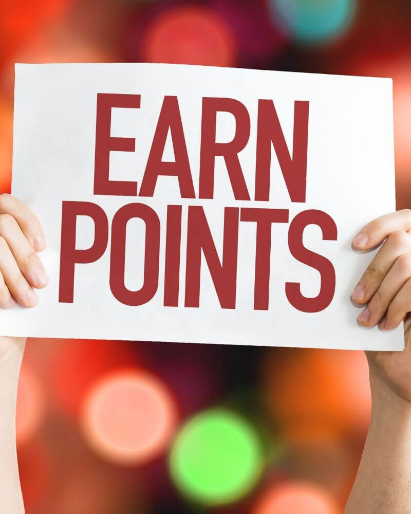 Image text: Earn Points