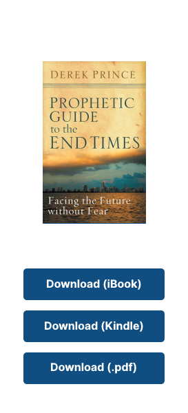A mobile screen with a Derek Prince ebook to download.
