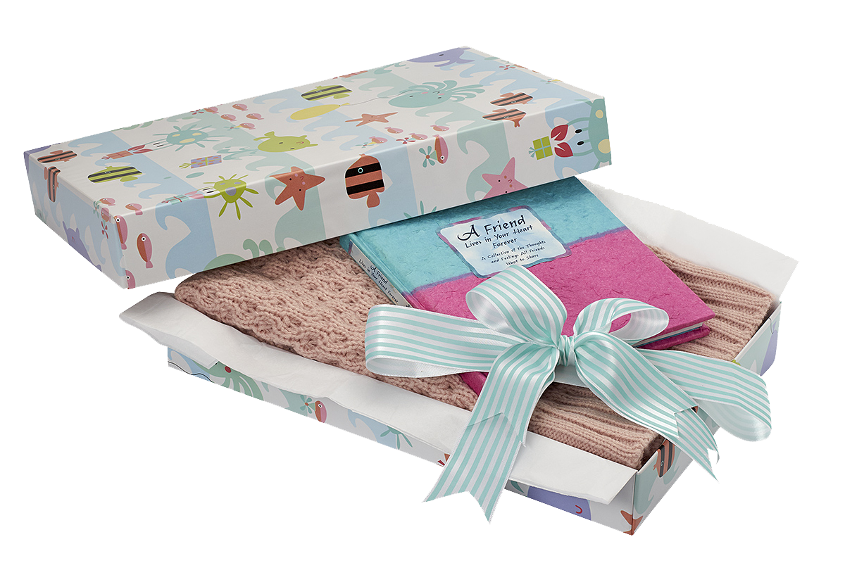 ReadyWrap giftbox and ribbon.