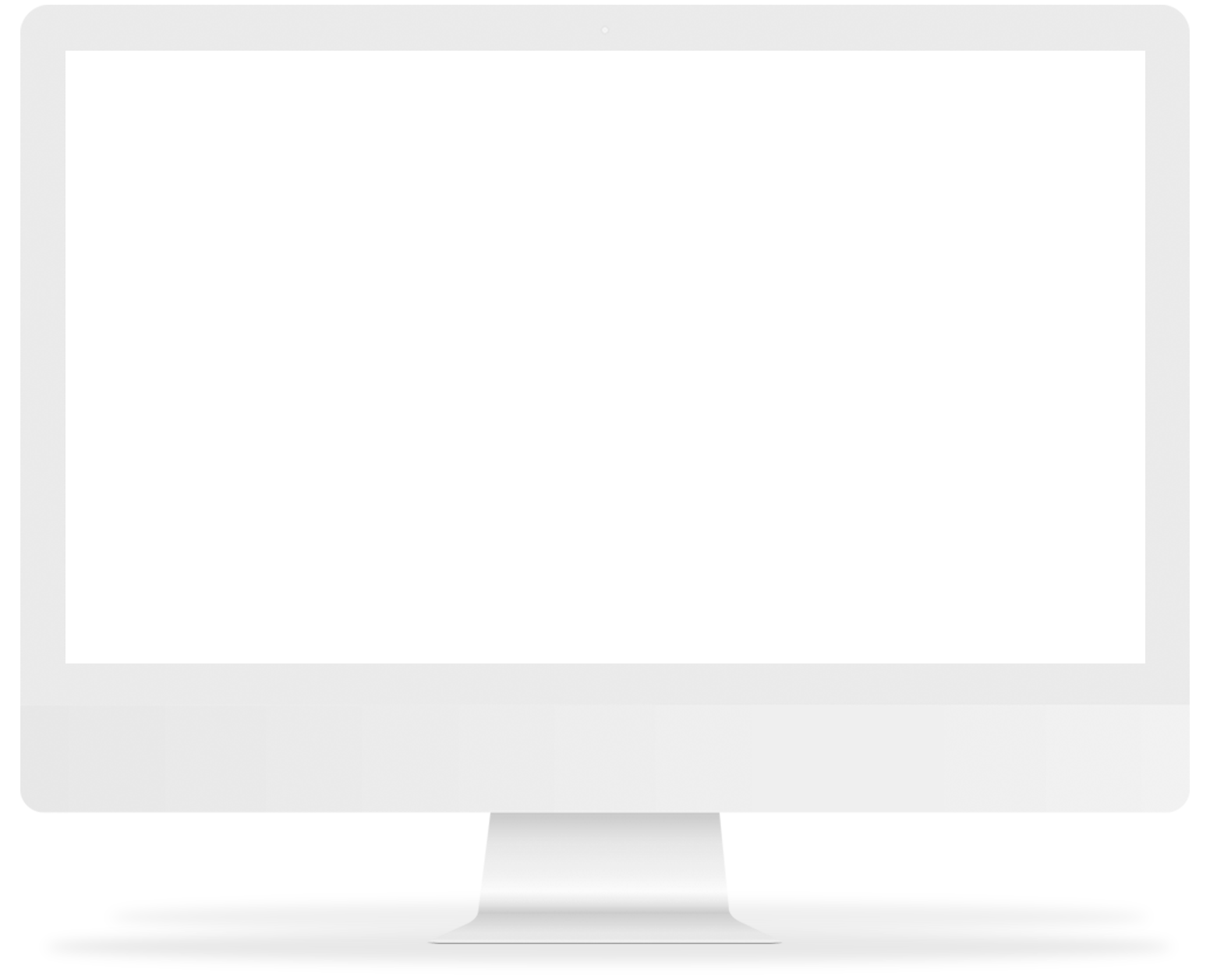 Transparent screen desktop computer