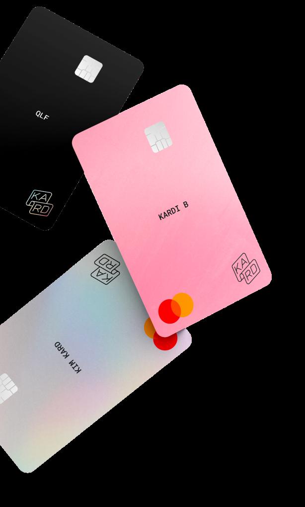 3 couleurs de cartes bancaires Kard