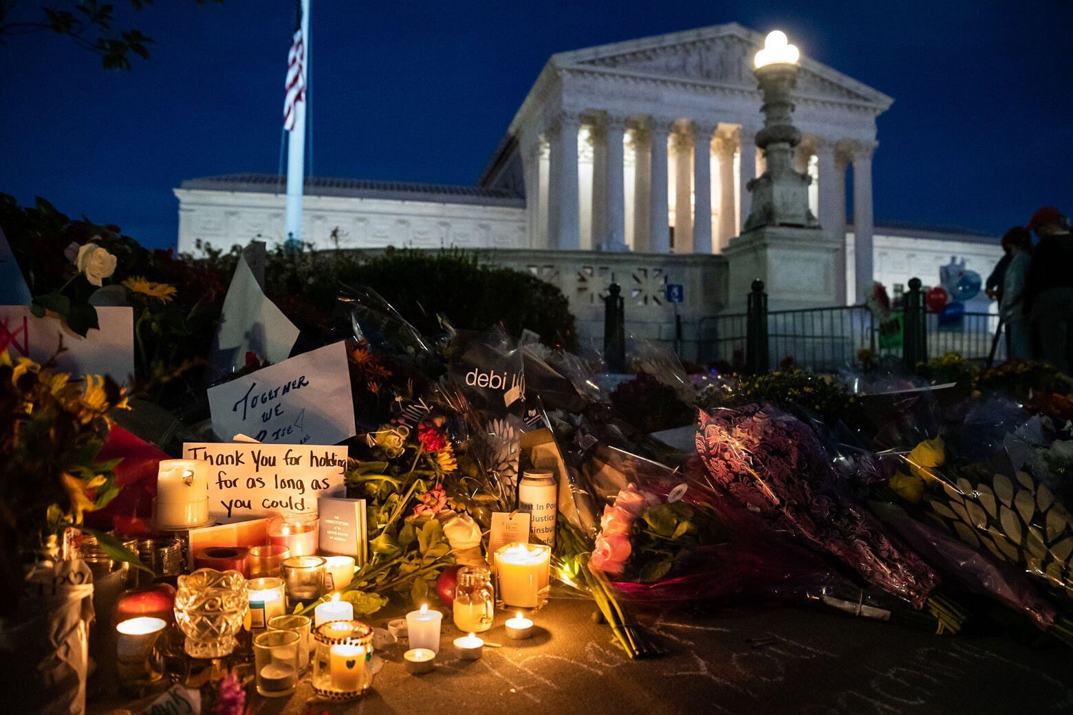 Ruth Bader Ginsburg, memorial, Supreme Court, vigil