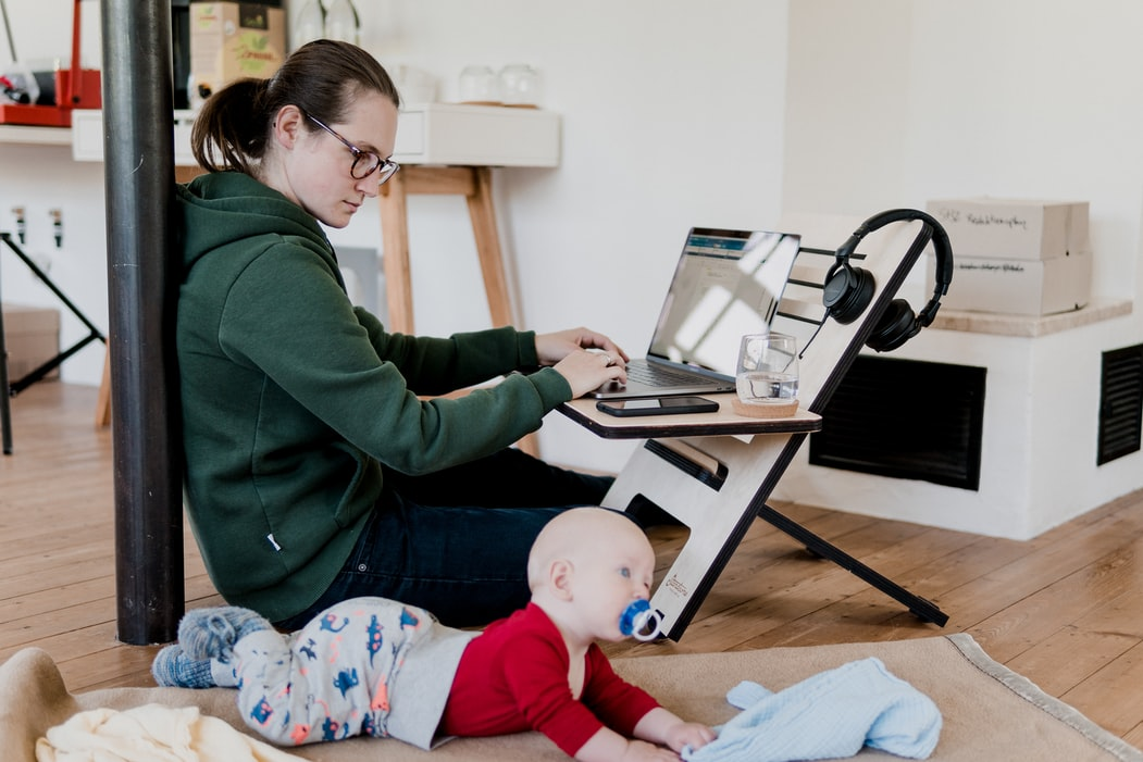 remote work, work from home, single mom