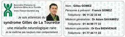 Carte Patient Tourette AFSGT