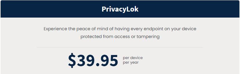 PrivacyLok Pricing
