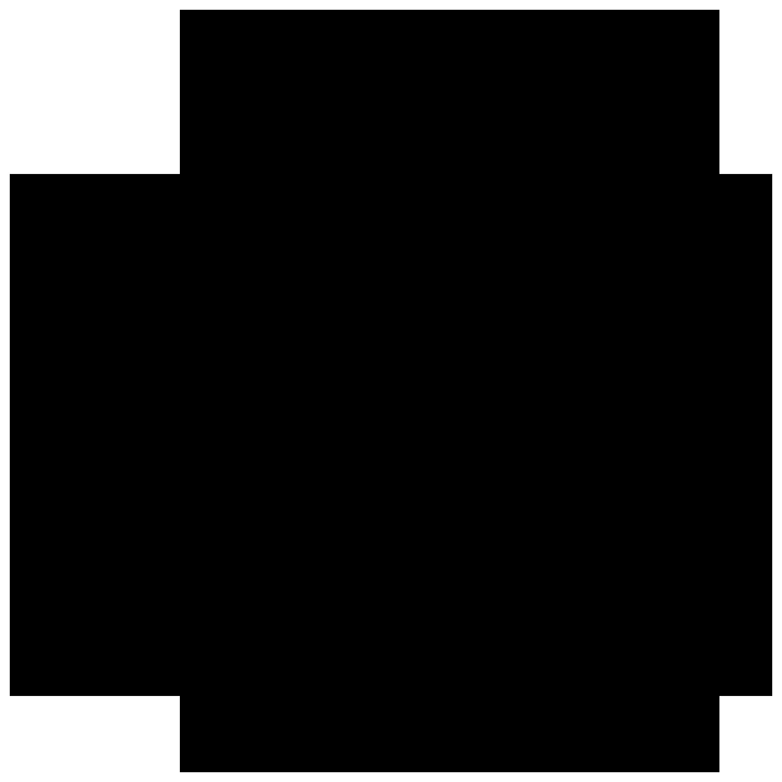 A black icon of Slack's logo