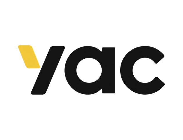 The logo for Yac.