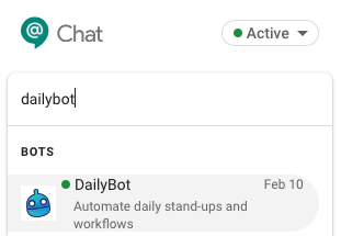 Find DailyBot and add it as a contact