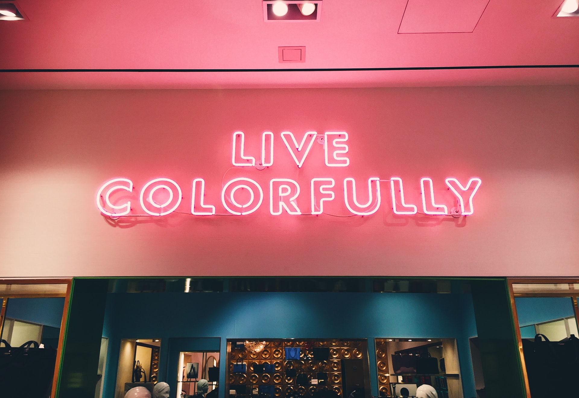 """""""Live Colorfully"""" sign"""
