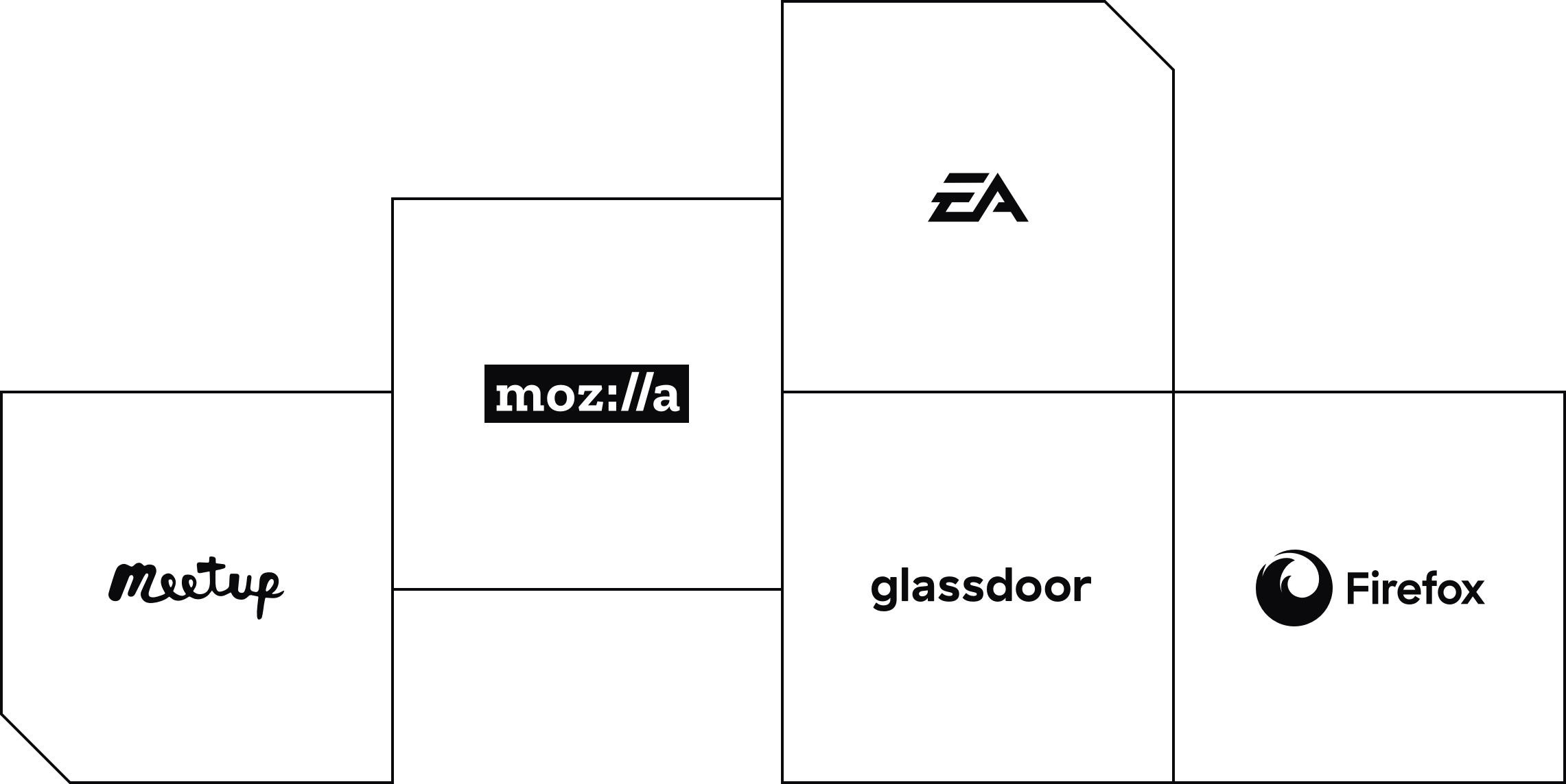 grid of company logos