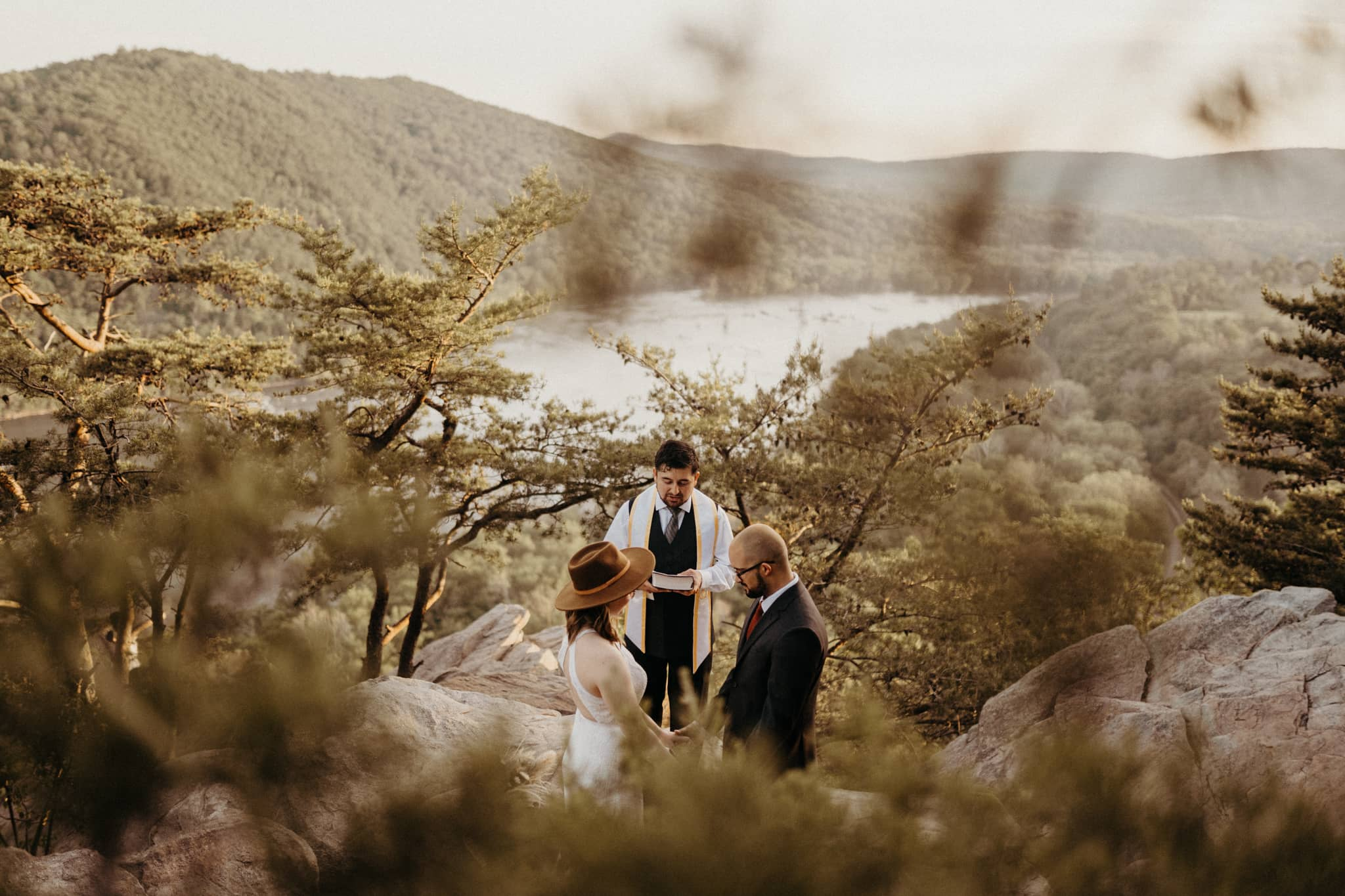couple gets married in secluded mountain top ceremony. Photo by Victoria Selman.