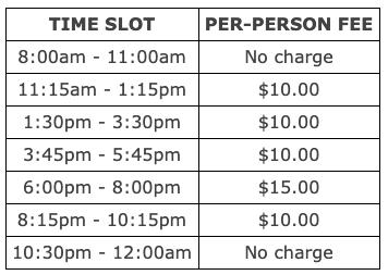 brian boru restaurant and pub st patricks day time slots and fees