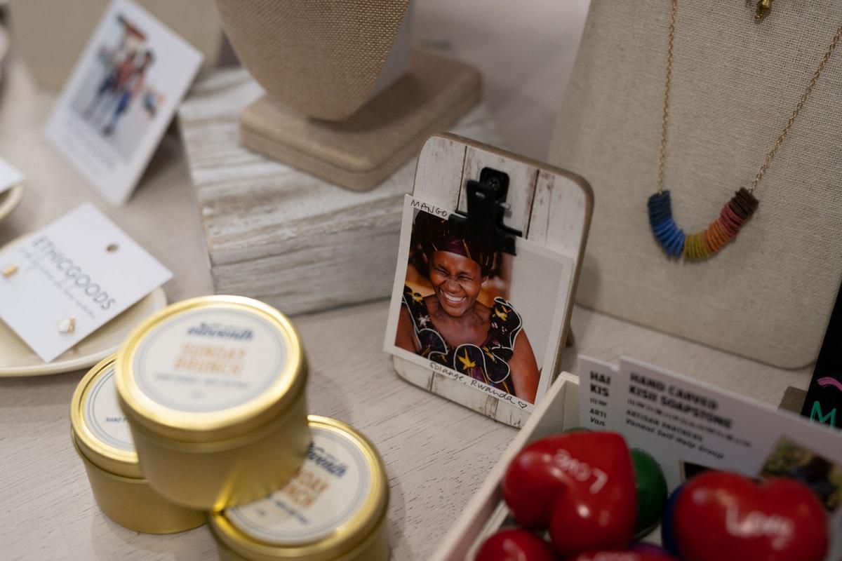 photo of rwandan artisan in mango + main