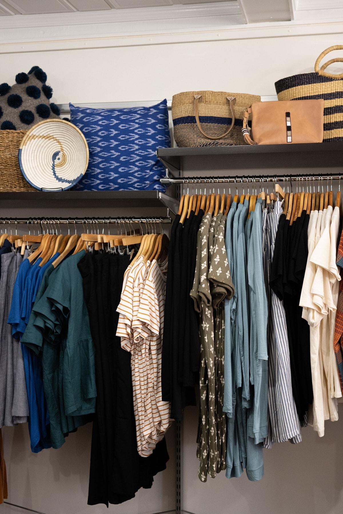 clothing displays at Mango + Main