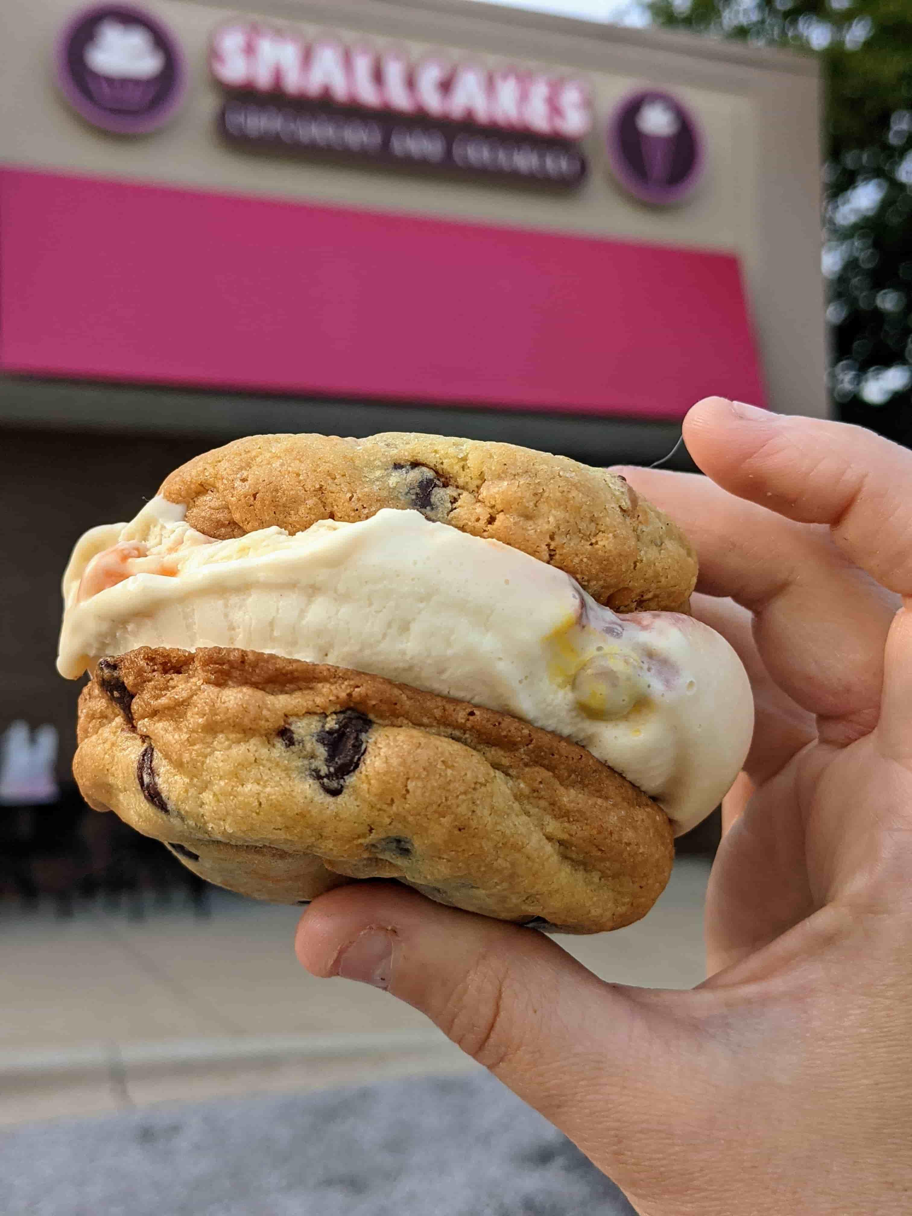 smallcakes cupcakery ice cream sandwich